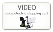 Using electric shopping cart